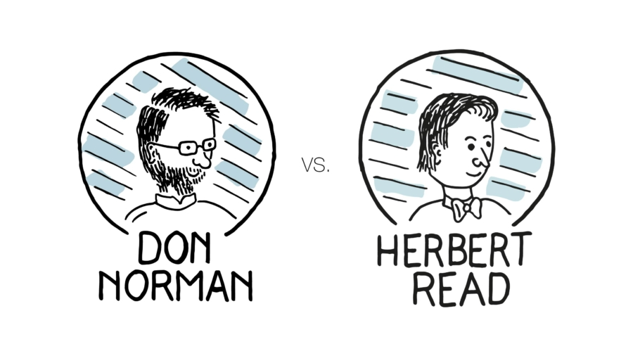 Don Norman vs. Herbert Read - interaction and visual design