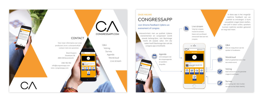 Ontwerp Flyer - Congress App