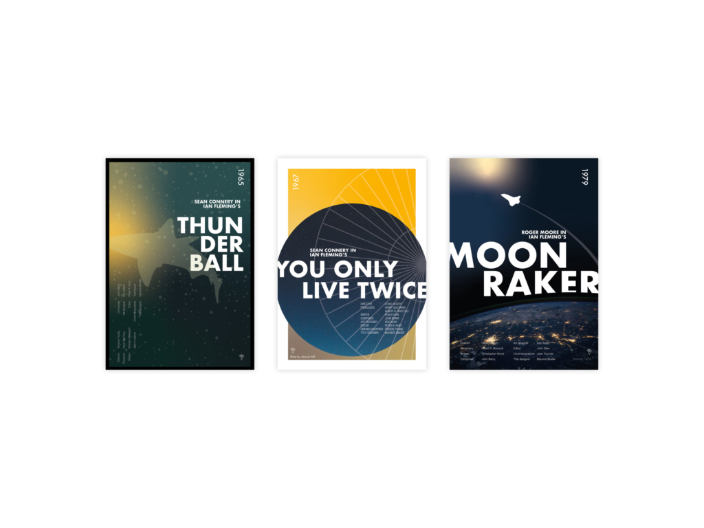 James Bond Posters - Grafisch ontwerp - Dribbble
